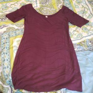 Plum Poly/Rayon Dress